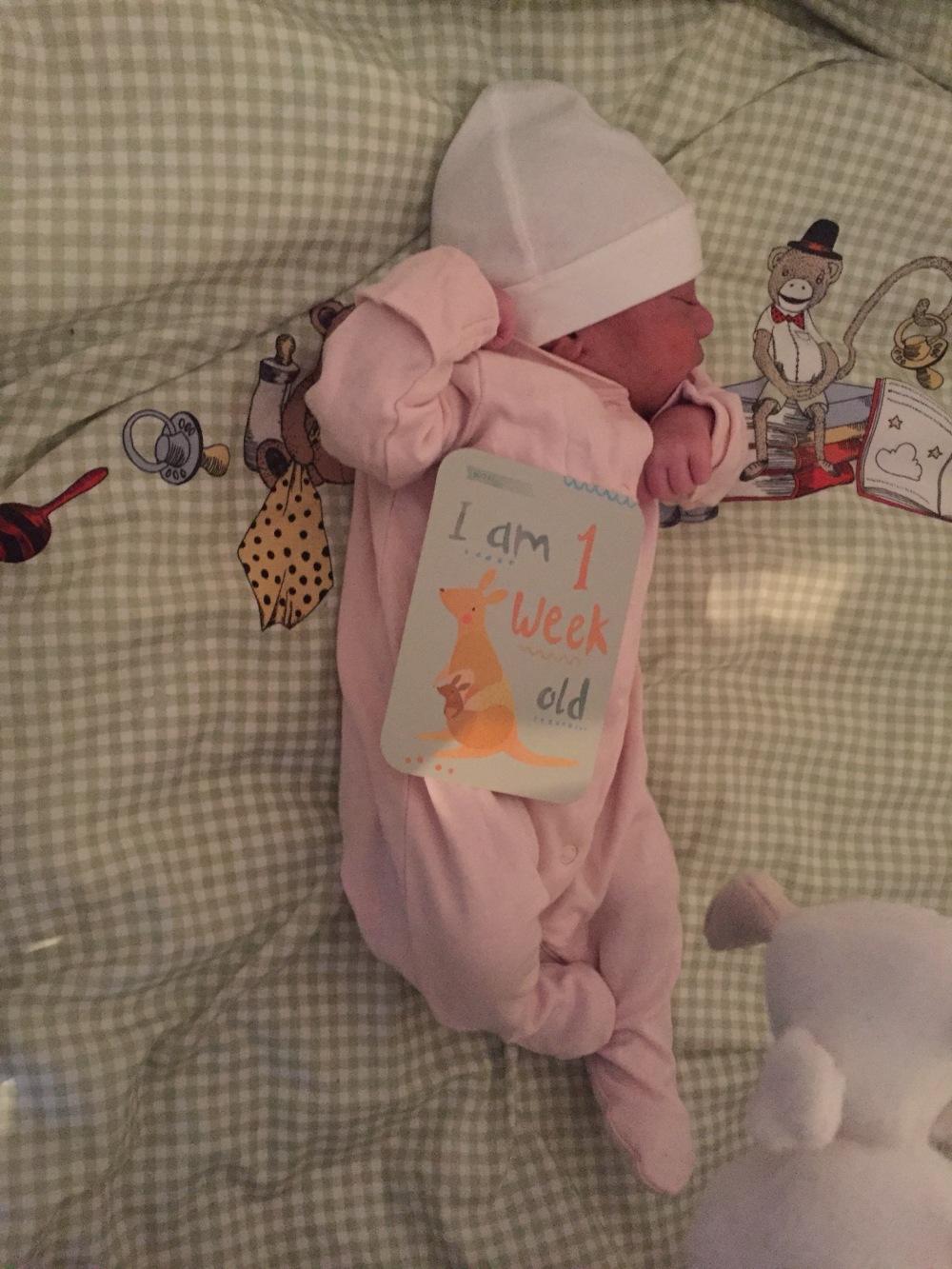 newborn baby one week old
