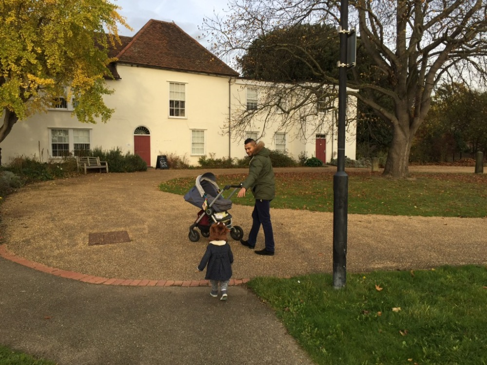 Family day out at Valence House in Barking