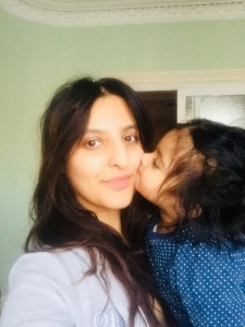 Monday morning selfie, a kiss from my little girl. One of the benefits of not wearing any makeup, she doesn't have to taste it when giving me a kiss!